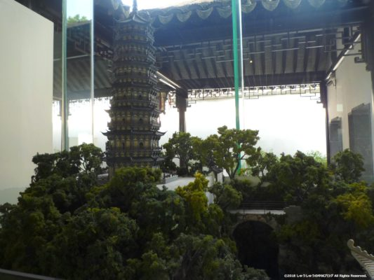 蘇州の拙政園の虎丘の模型