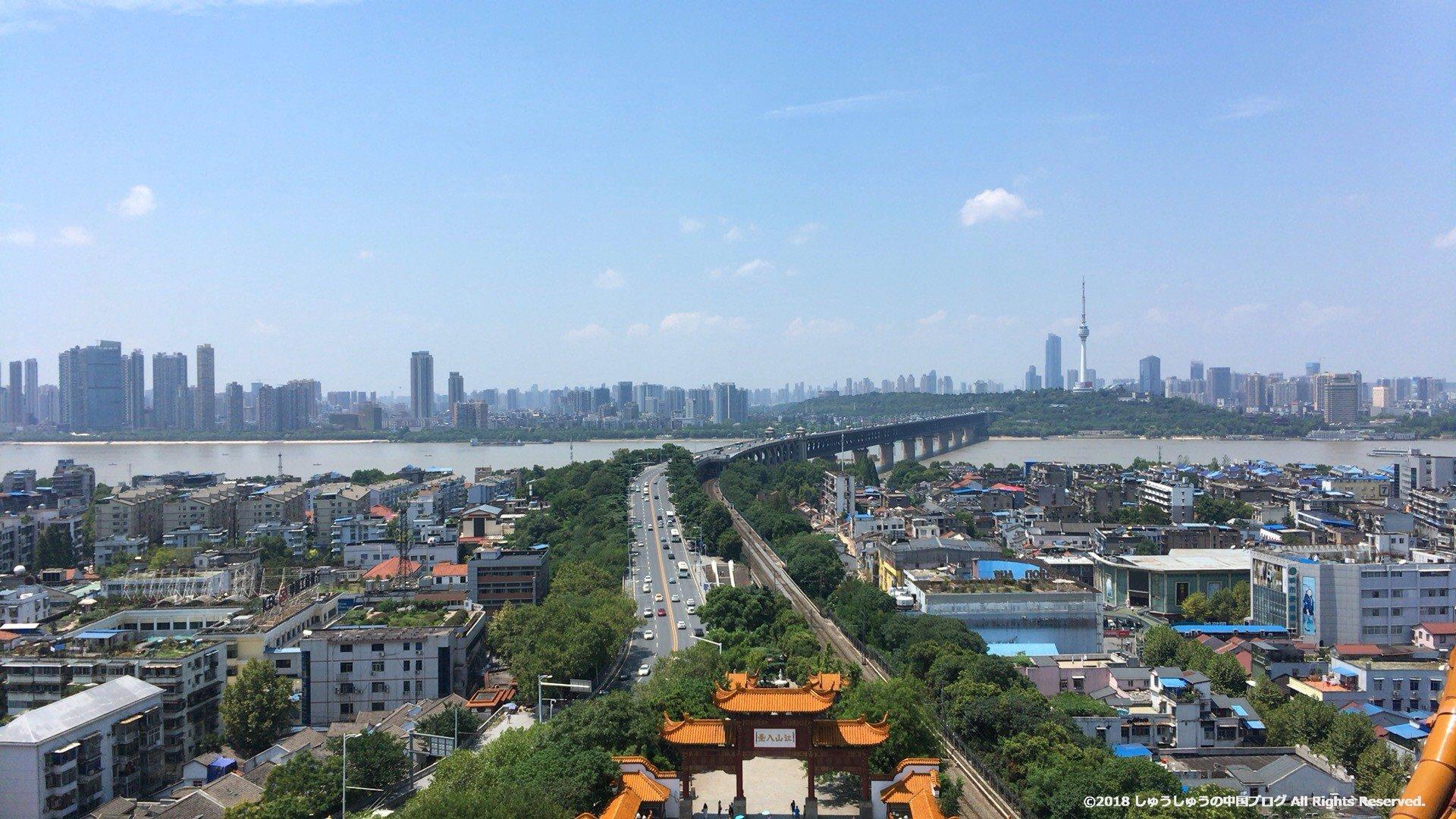 武漢 黄鶴楼から見た長江