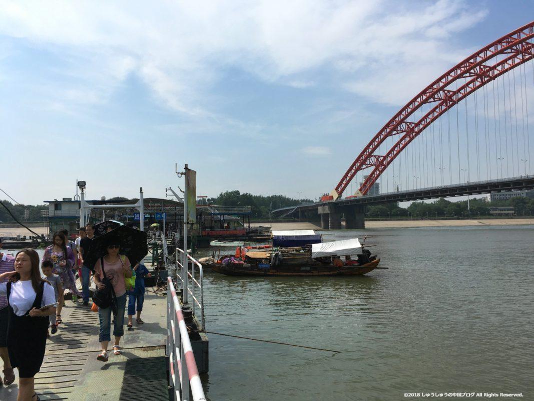 武漢の渡し船(水上バス)の集家嘴の船乗り場