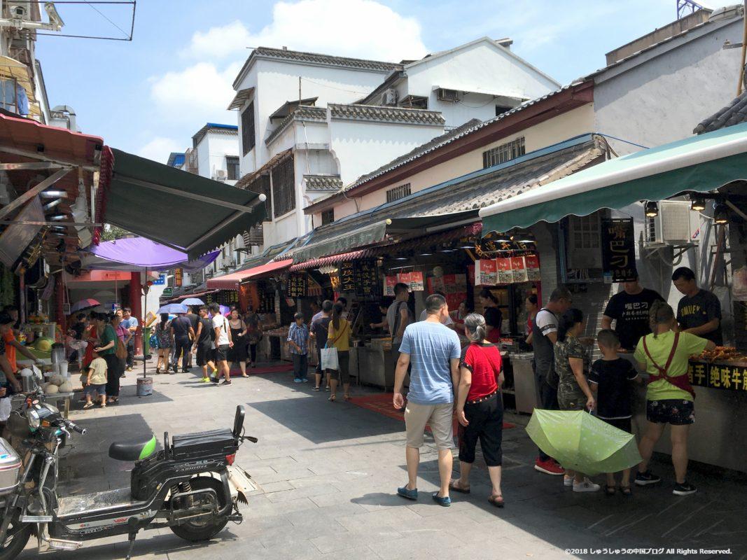 武漢の戸部巷の路地
