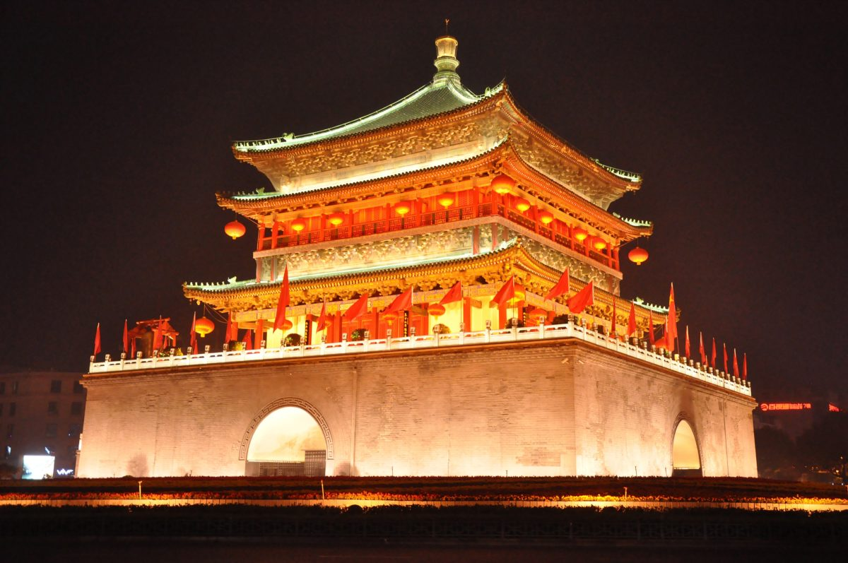 西安 鐘楼夜景