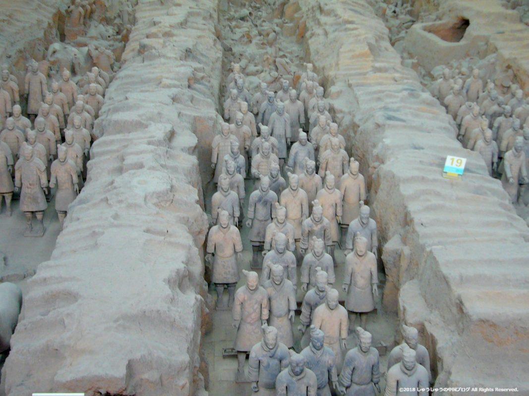 秦始皇兵馬俑博物館1号坑の正面