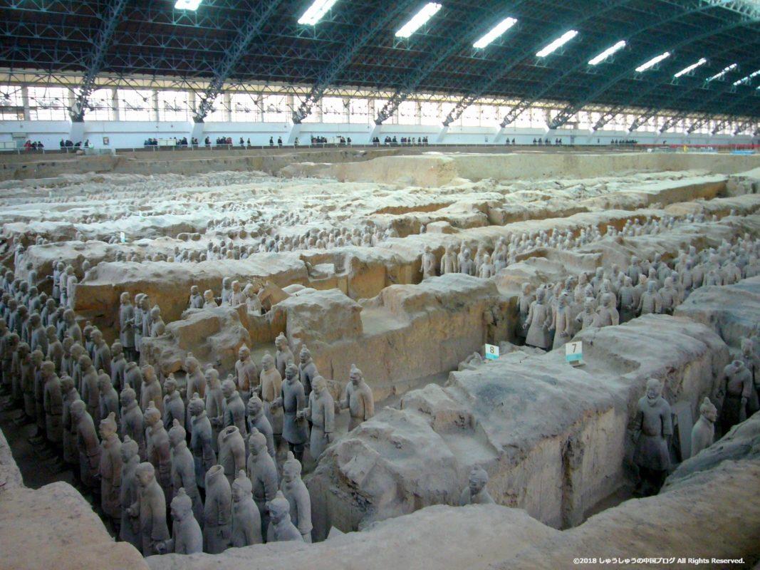 秦始皇兵馬俑博物館1号坑の右斜め前