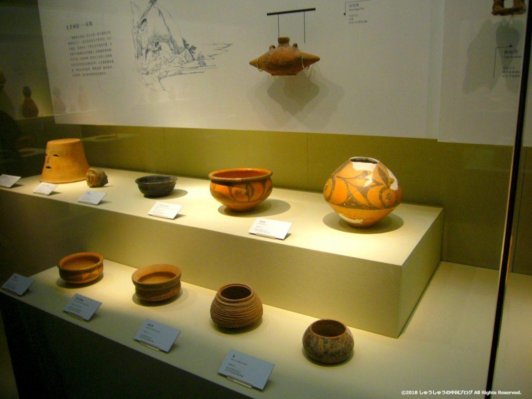 兵馬俑の陶器の展示