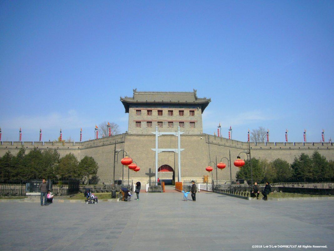 西安城壁の南寧門(遠景)