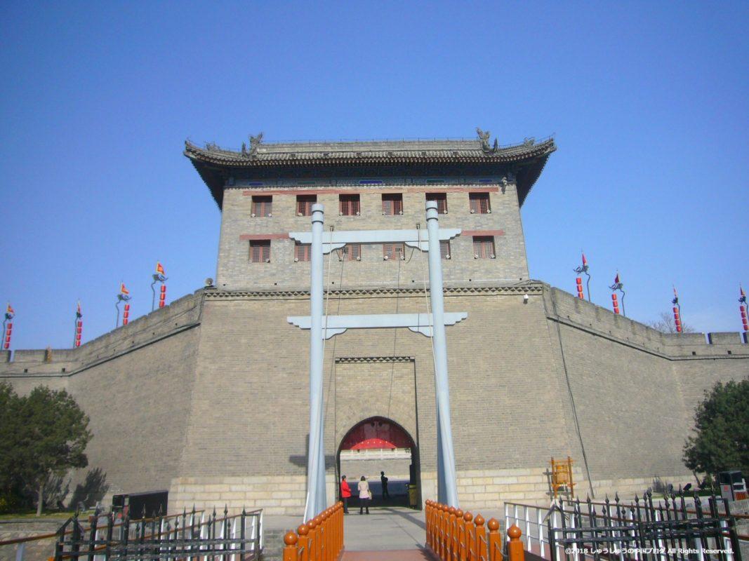 西安城壁の永寧門(近景)