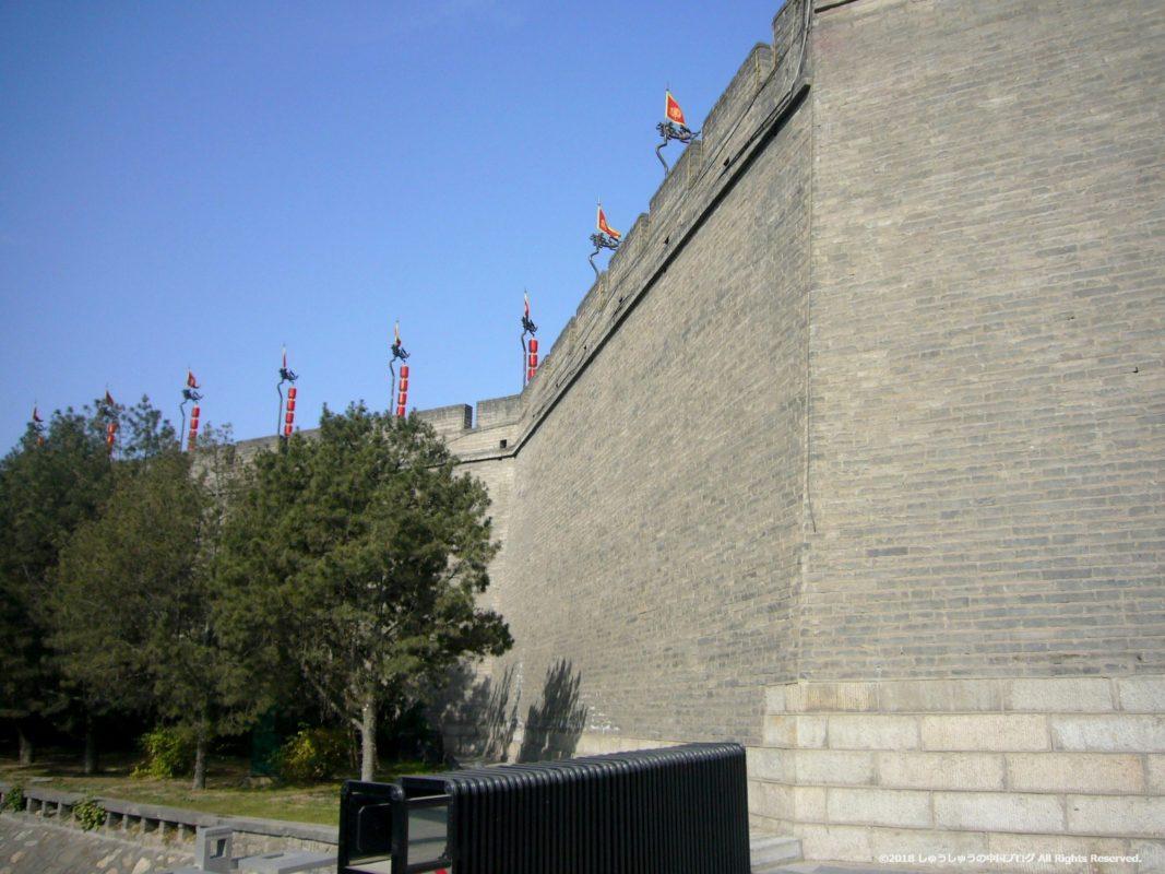 西安城壁の永寧門の横側
