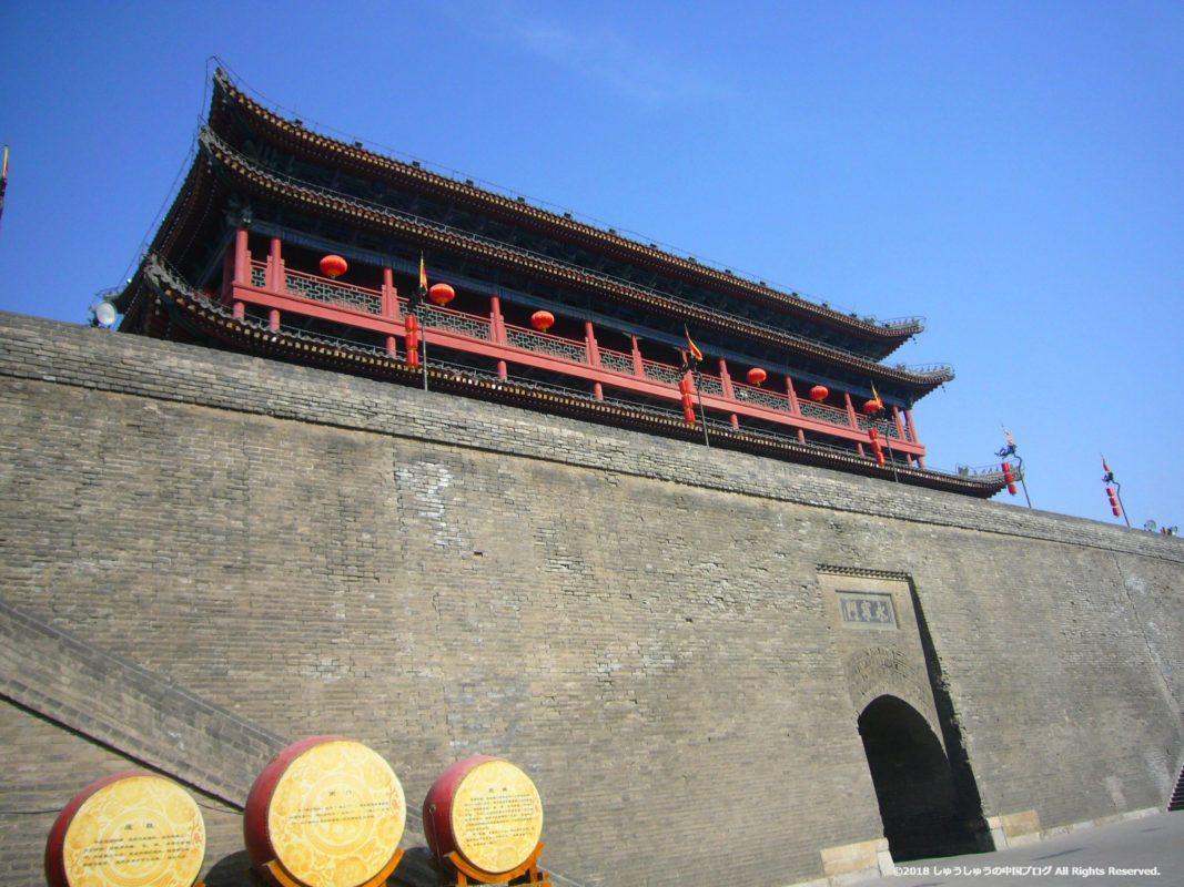 西安城壁の永寧門の内側