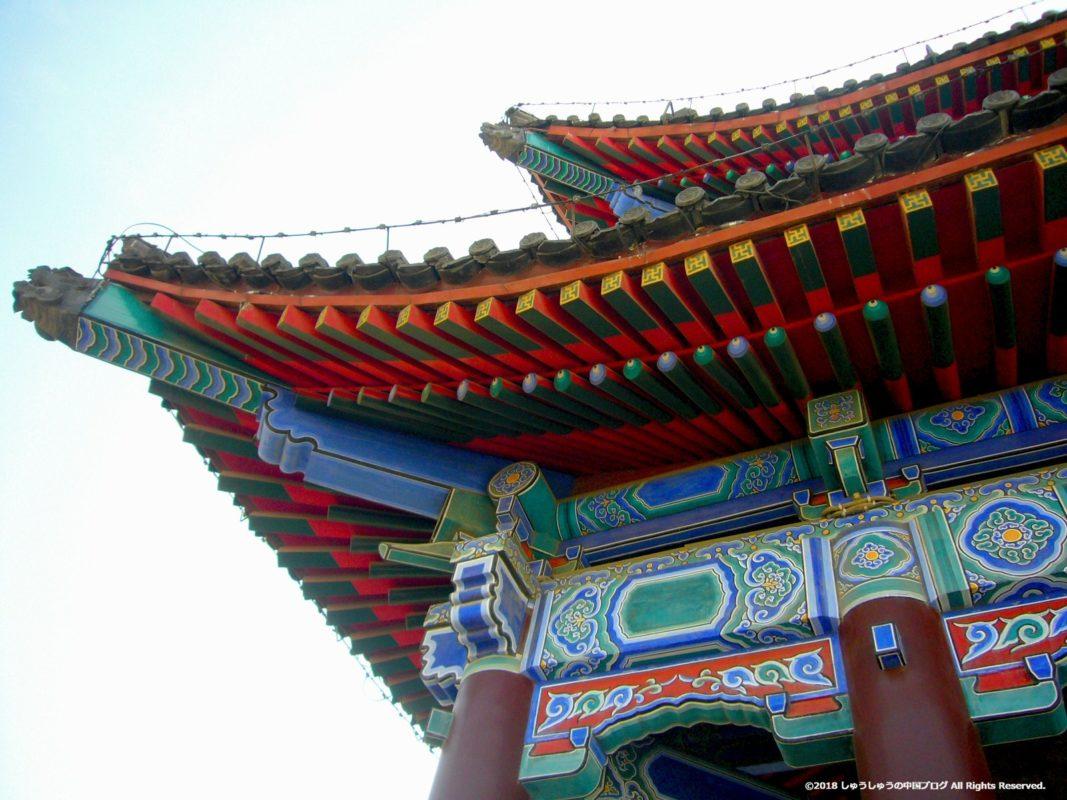 西安城壁の永寧門の屋根