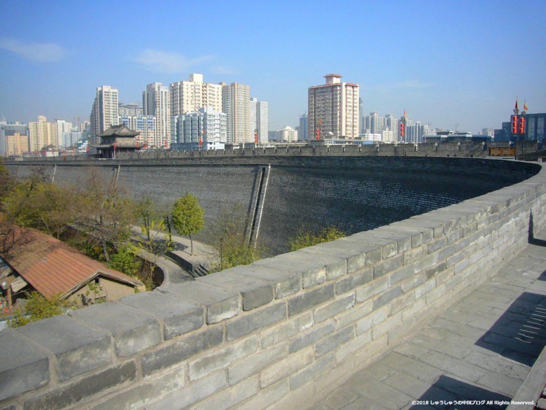 西安城壁の東南の曲がり角