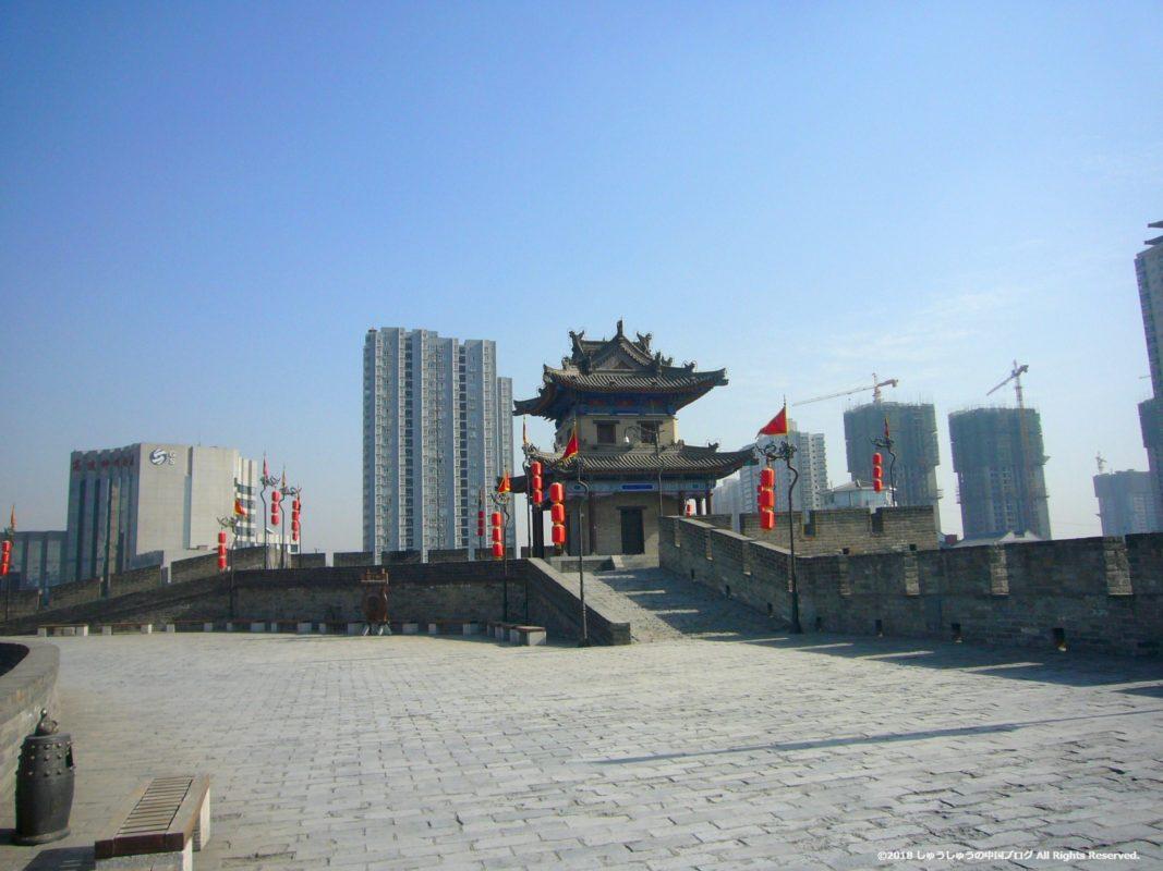 西安城壁の東南の建物