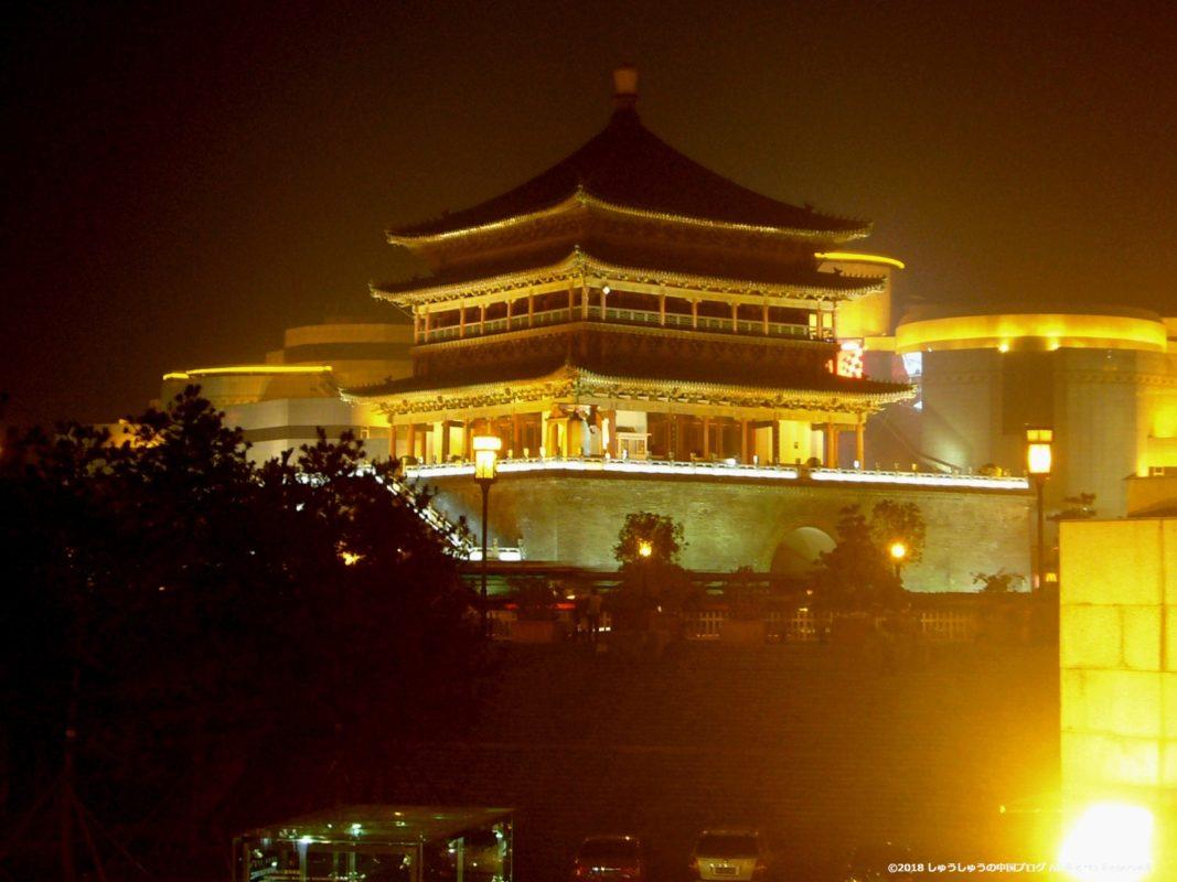 西安鐘楼の夜景