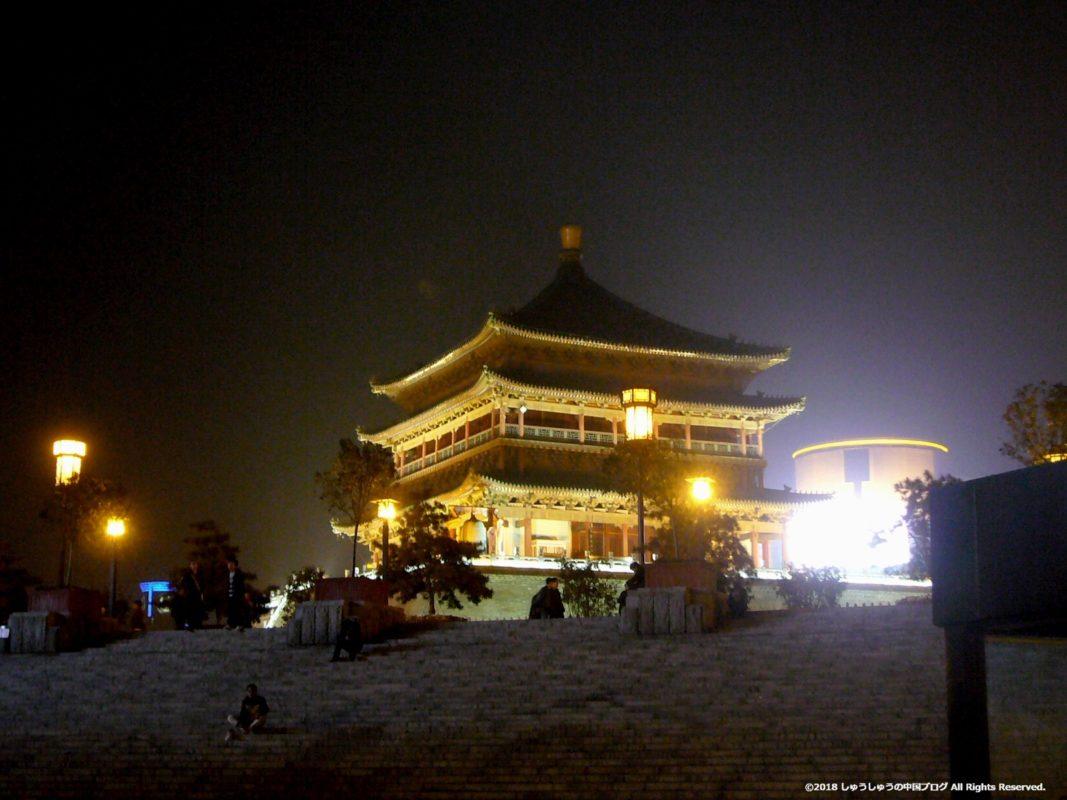 西安鐘楼の夜景別の日