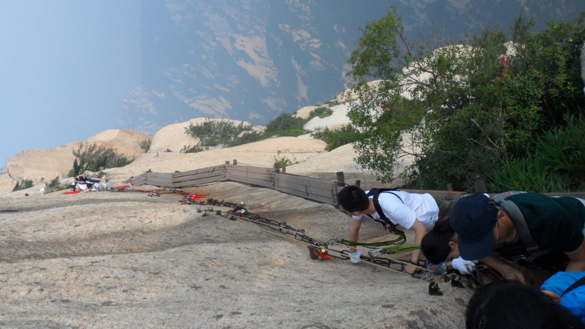西安華山の危険な登山道