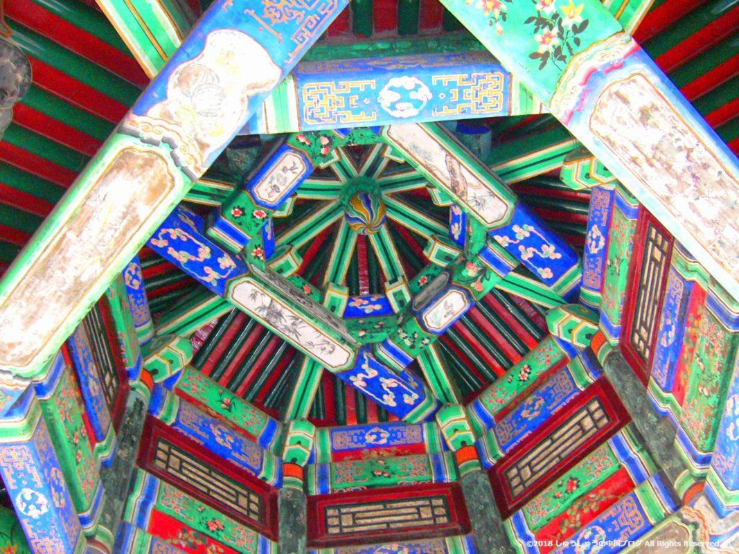 北京頤和園の長廊の上部
