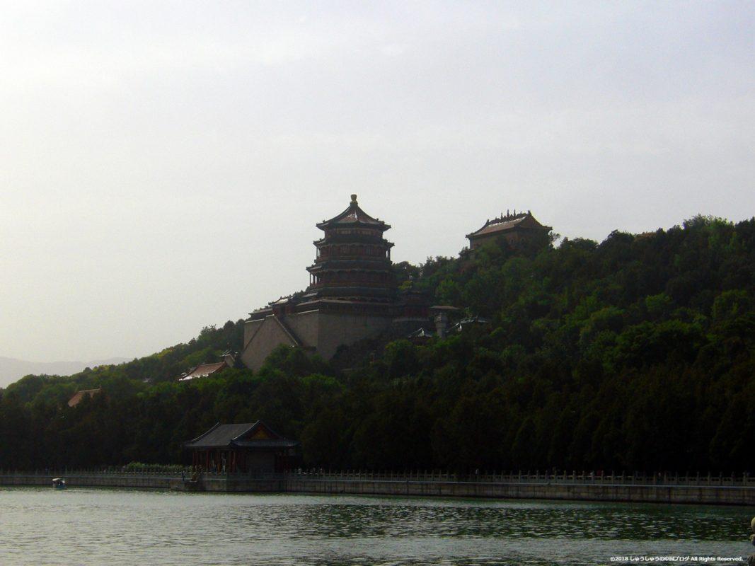 北京頤和園の万寿山の風景