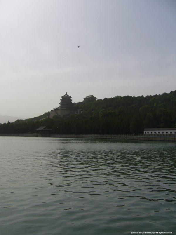 北京頤和園の万寿山の風景(遠景)