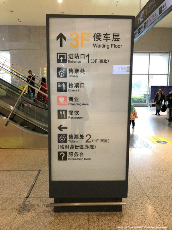 鄭州東駅の案内板