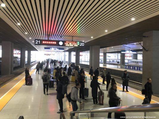 鄭州東駅のホーム