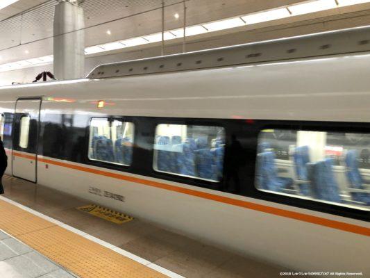 鄭州東駅の空港行きの新幹線