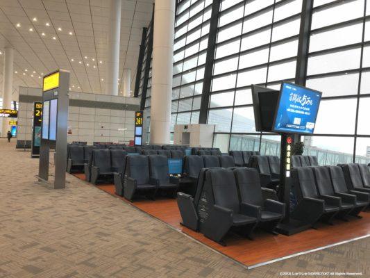 新鄭空港の搭乗口付近
