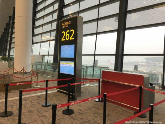 新鄭空港の搭乗口